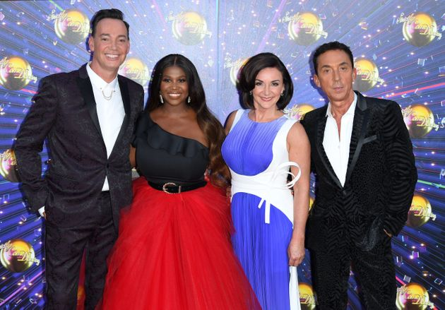 The Strictly judges at last year's red carpet