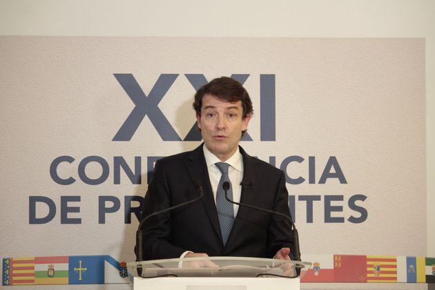 El presidente de Castilla y León, Alfonso Fernández Mañueco, en la Conferencia de