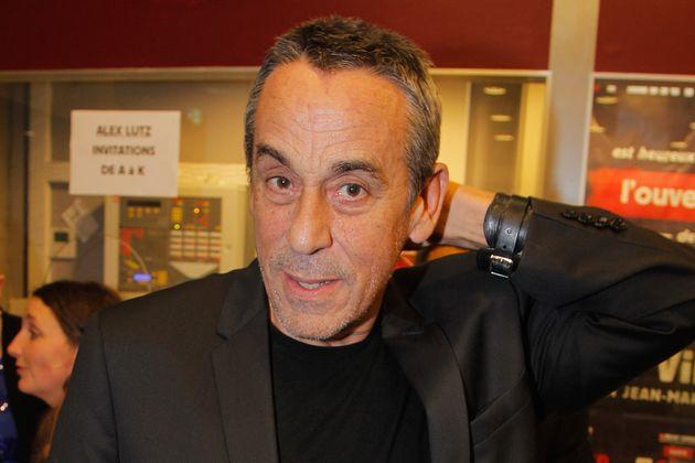 Thierry Ardisson au théâtredu Grand Point-Virgule, le 22 octobre 2012 à Paris. (Photographie...