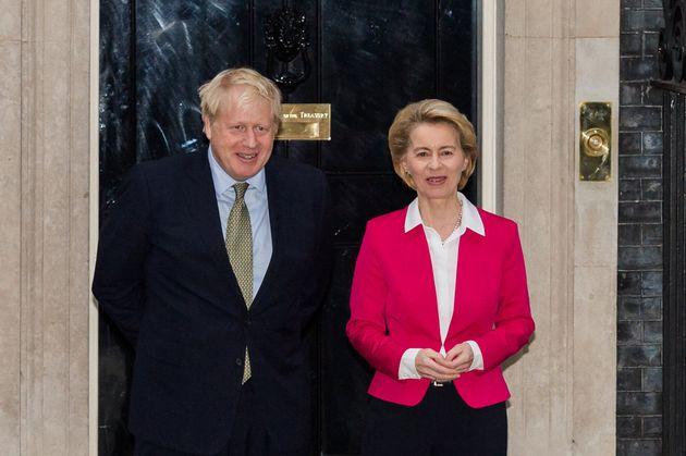 Boris Johnson y Ursula von der Leyen, el pasado enero, reunidos en Downing