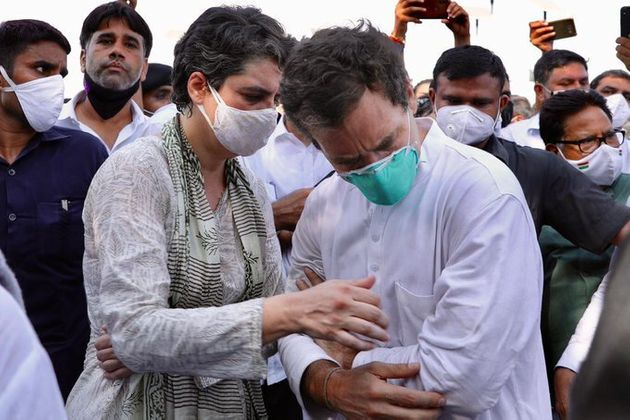 Rahul and Priyanka Gandhi were stopped at Yamuna Expressway while on their way to