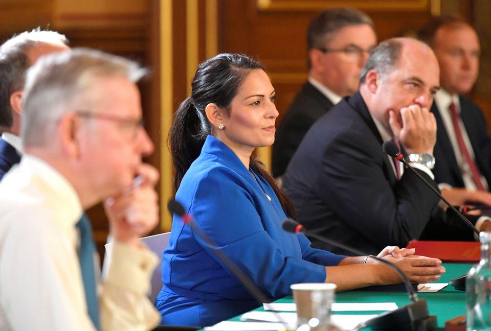 Home secretary Priti Patel at a cabinet meeting in September
