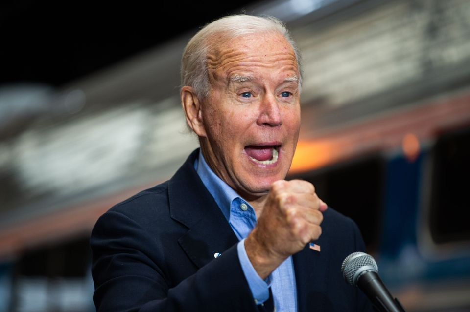 Democratic presidential candidate Joe Biden, Trump's rival in the