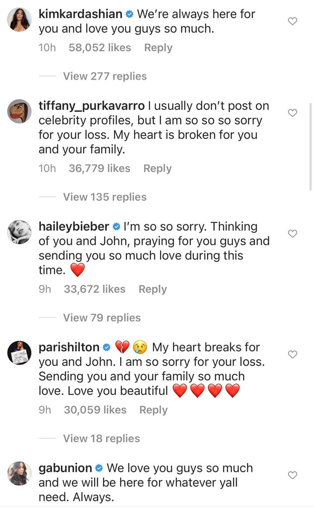 Kim Kardashian, Gabrielle Union & More Send Love To Chrissy Teigen After Pregnancy