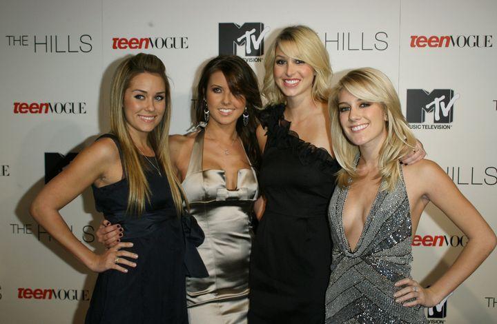 "Lauren Conrad, Audrina Patridge, Whitney Port and Heidi Montag, the stars of ""The Hills."""