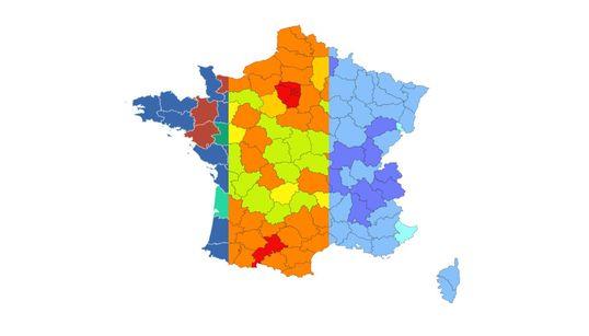 Nos cartes de France du Covid en temps réel par département et par