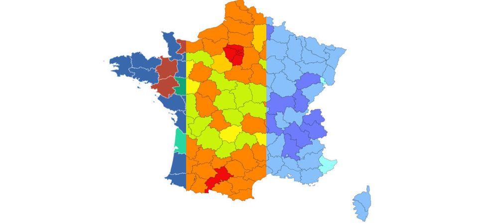 Covid 19 Nos Cartes De France En Temps Reel Par Departement Et Par Indicateur Le Huffpost