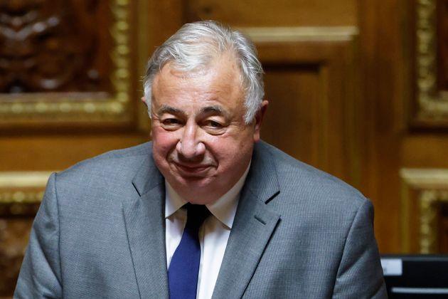 Réélu sans surprise président du Sénat, Larcher (ici le 1er octobre 2020)...