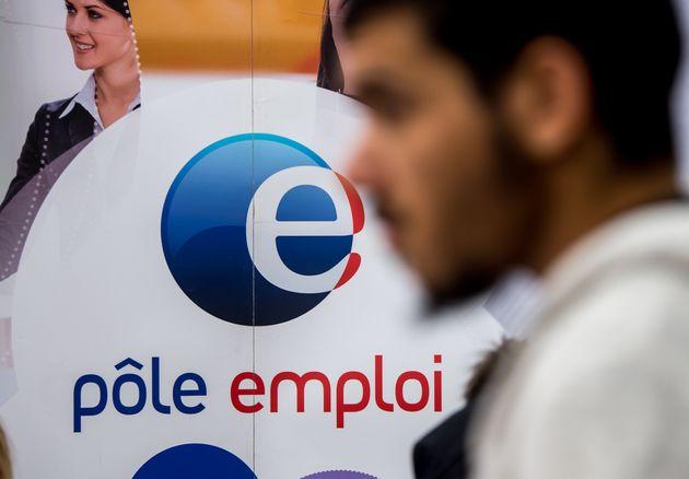 Image d'illustration - Un logo Pôle Emploi en 2014 à Villeneuve d'Ascq