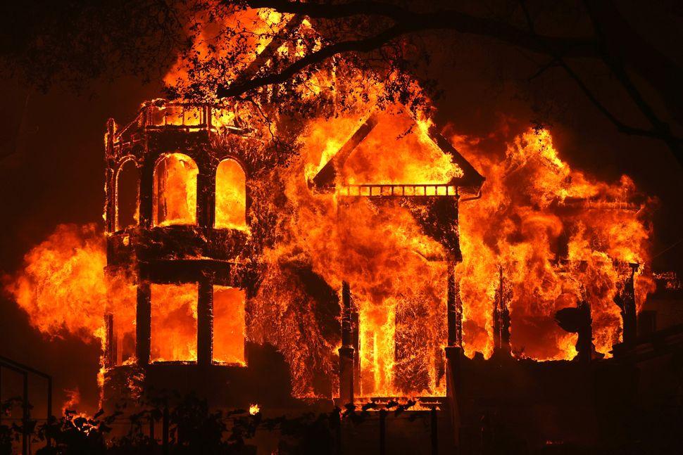 St Helena's Glass Mountain Inn burns Sunday night.