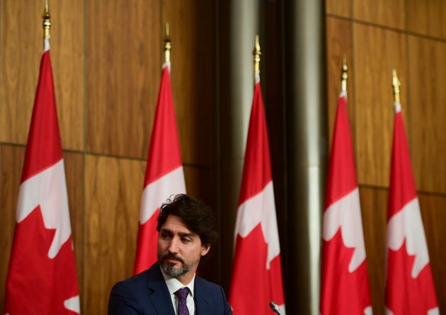 Prime Minister Justin Trudeau holds a press conference in Ottawa on