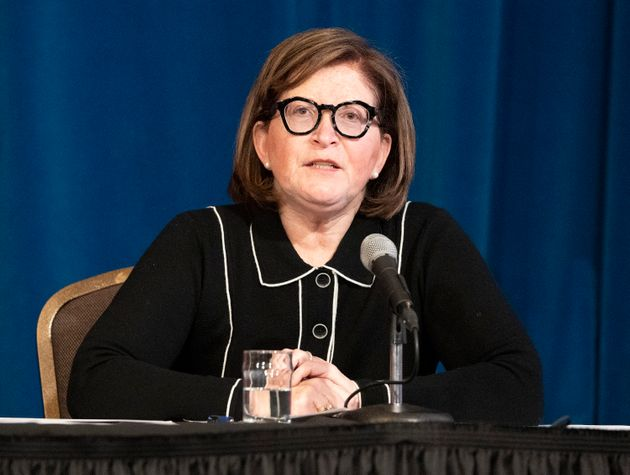 Dr. Barbara Yaffe, Ontario Associate Chief Medical Officer of Health answers questions during a news...