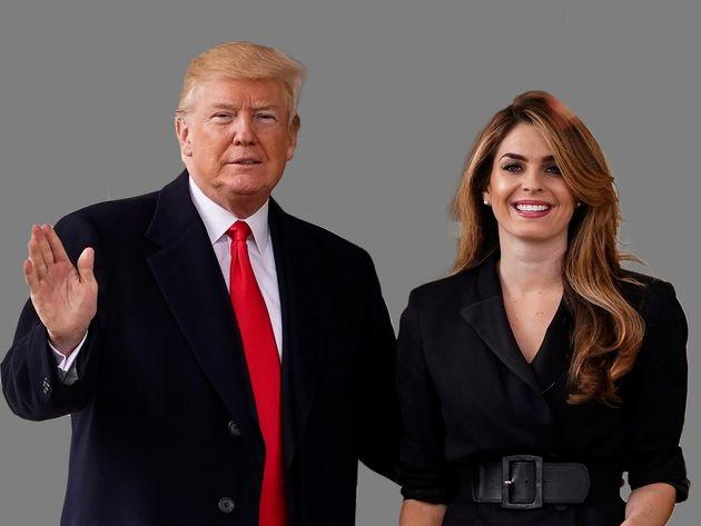 도널드 트럼프 대통령과 호프 힉스 백악관