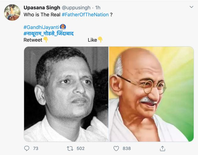 On Gandhi Jayanti, His Assassin Nathuram Godse's Name Is One Of The Top Trends On