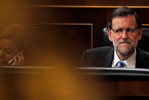Mariano Rajoy, en octubre de 2013, en su escaño del