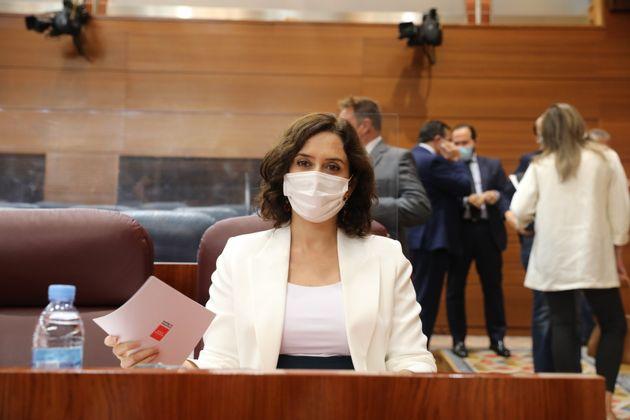 Isabel Díaz Ayuso, presidenta de la Comunidad de Madrid, el 1 de octubre de 2020 en la Asamblea...