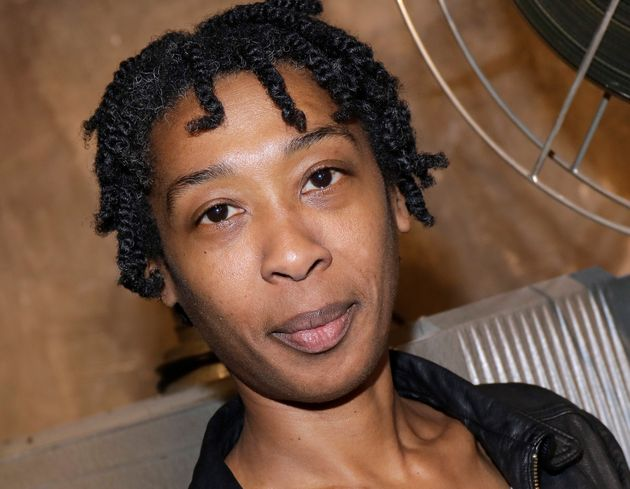 La journaliste et autrice Tania de Montaigne lors d'une session de portrait à Paris, le 4 janvier