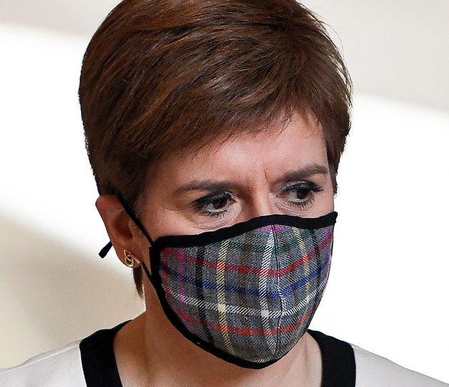 First Minister Nicola Sturgeon arriving for First Minister's Questions at the Scottish Parliament,