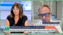 El jefe de Urgencias del hospital San Carlos impacta con una lapidaria frase en 'El Programa de