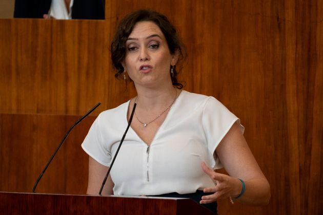 Isabel Díaz Ayuso, el pasado 15 de septiembre, en la Asamblea de