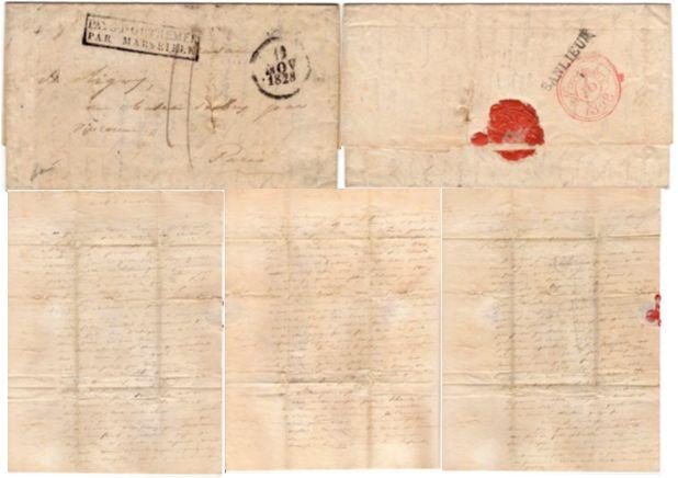 Ιδιόχειρη επιστολή που στέλνει ο Ναύαρχος de Rigny προς την Madame de Rigny στο Παρίσι με ημερομηνία...