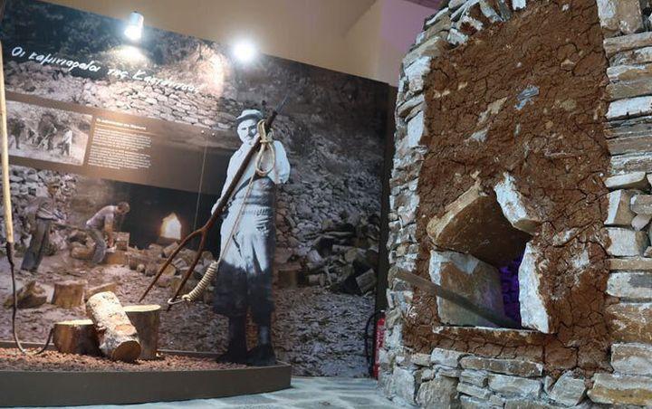 φωτό από το Λαογραφικό Μουσείο παραδοσιακών επαγγελμάτων στην Καστάνιτσα