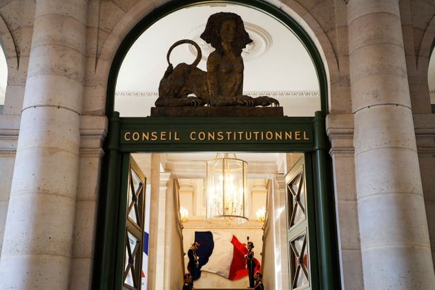 L'entrée du Conseil Constitutionnel le 21 juillet 2020 à Paris. (Photo Ludovic MARIN /