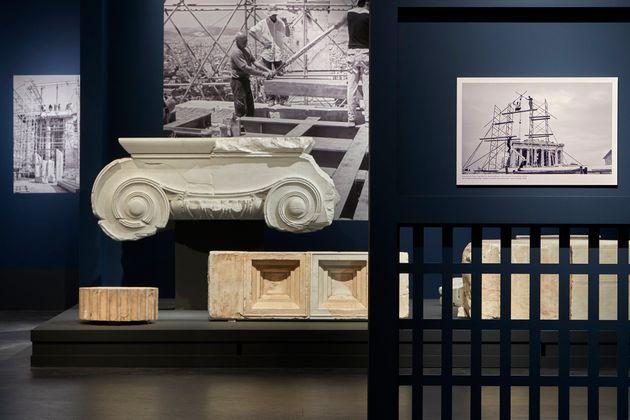 Άποψη της περιοδικής έκθεσης 'Σμίλη και Μνήμη' στο Μουσείο