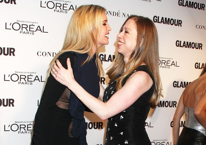 Ivanka Trump (left) and Chelsea Clinton at the 2014 Glamour Women of the Year Awards in New York.