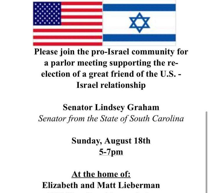 In 2013, Matt Lieberman hosted a fundraiser for Sen. Lindsey Graham (R-S.C.).