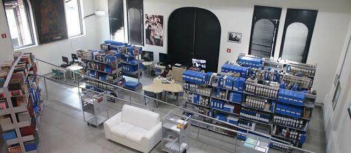 Um dos espaços da Cinemateca Brasileira utilizados como