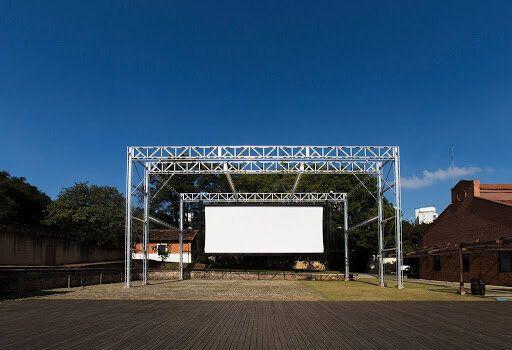 Área de projeção externa da Cinemateca