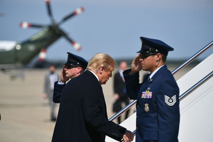 On Thursday, President Donald Trump departed from Andrews Air Force Base to attend a fundraiser in Bedminster, New Jersey. Trump knew of top aide Hope Hick's positive coronavirus diagnosis before attending the event.