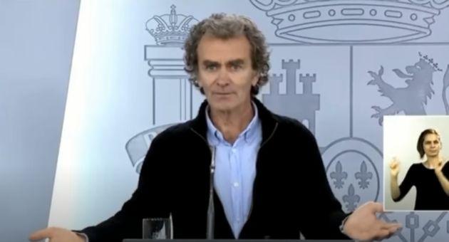 Fernando Simón en rueda de prensa el pasado 20 de