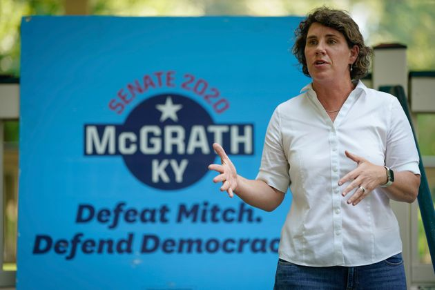 Democratic Senate candidate Amy McGrath's latest efforts to win over Trump voters in Kentucky could complicate...