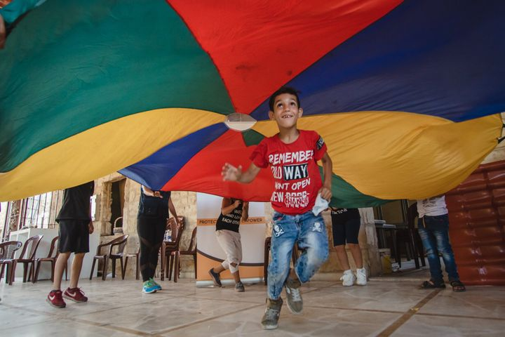 Children in Beirut are finding emotional release in play activities, as they recover from the devastation of the August 4 explosion.