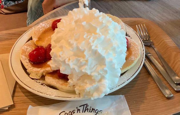 エッグスンシングスのパンケーキ(原宿店の物ではありません)