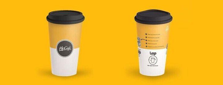 영국 맥도날드가 내년에 시범 시행할 테이크아웃용 다회용 컵. 맥도날드 누리집