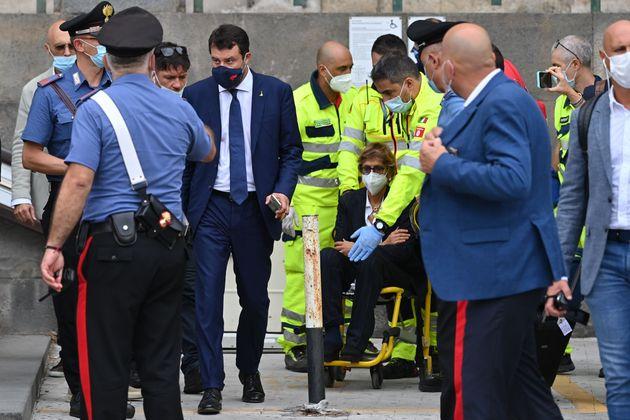 Incidente per Giulia Bongiorno al processo Gregoretti, va via in sedia a