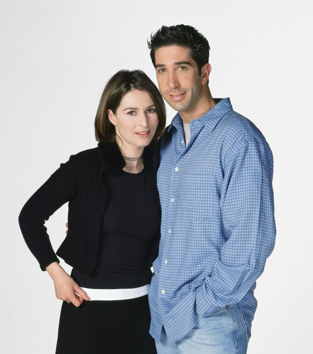 Helen Baxendale ended up playing as Emily Waltham, seen here with David Schwimmer as Ross Geller