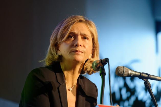 Valérie Pécresse, présidente de la région Île-de-France, photographiée...