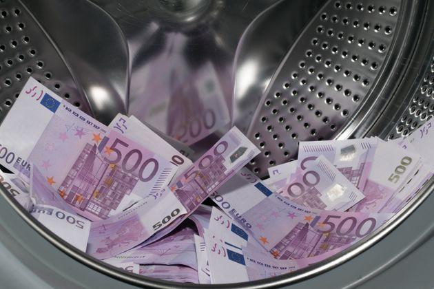 cash money in a washing machine money