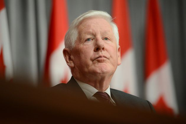 Bob Rae leaves after holds a press conference regarding his appointment as the next Ambassador to the...