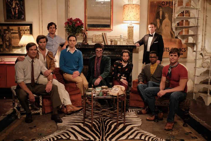 """The Boys in the Band"" stars (from left) Tuc Watkins, Andrew Rannells, Matt Bomer, Jim Parsons, Zachary Quinto, Robin de&nbsp"