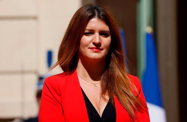 Marlène Schiappa, ici photographiée en juillet à l'occasion du remaniement ministériel,...
