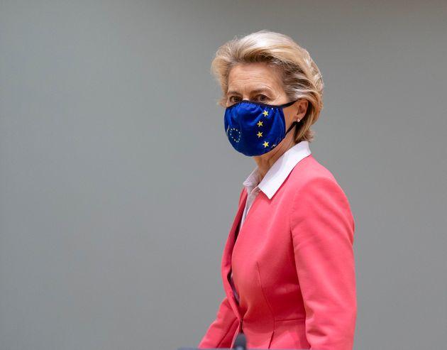 Ursula von der Leyen,présidente de la Commission européenne, le 2 octobre 2020 lors...