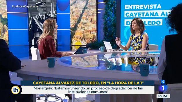 Cayetana Álvarez de Toledo y Mónica López en