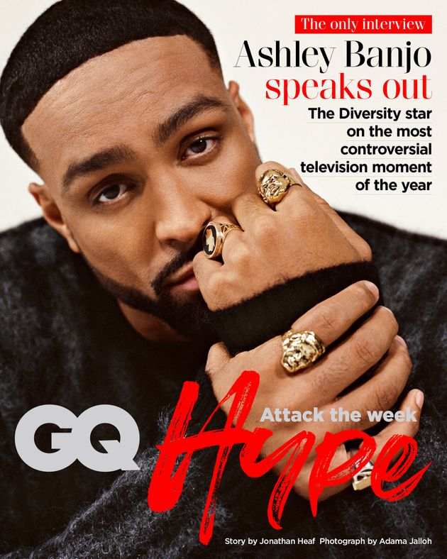 Ashley on the cover of GQ Hype