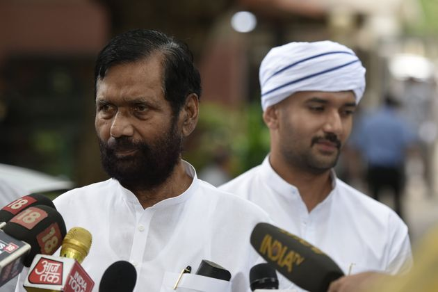 Ram Vilas Paswan with son Chirag in a file