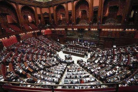 Aula della Camera durante la votazione finale del disegno di legge sulle riforme Costituzionali. Roma...